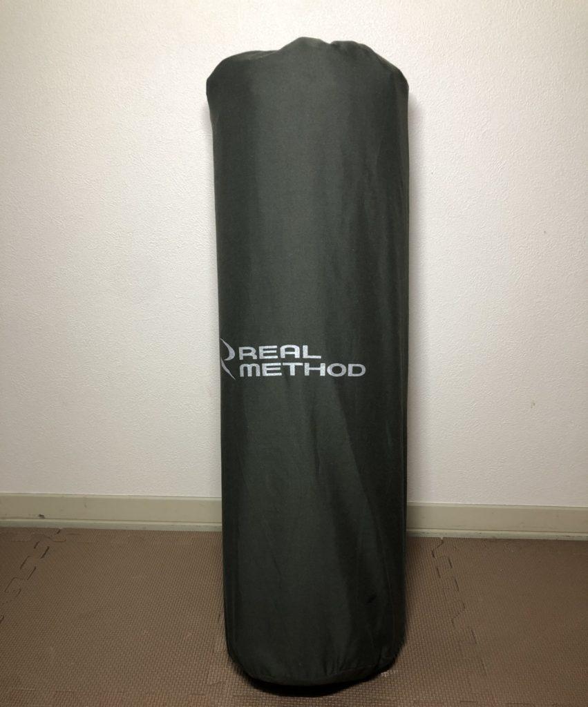 REAL METHOD インフレータブルエアマット 5cm厚 カーキグリーン
