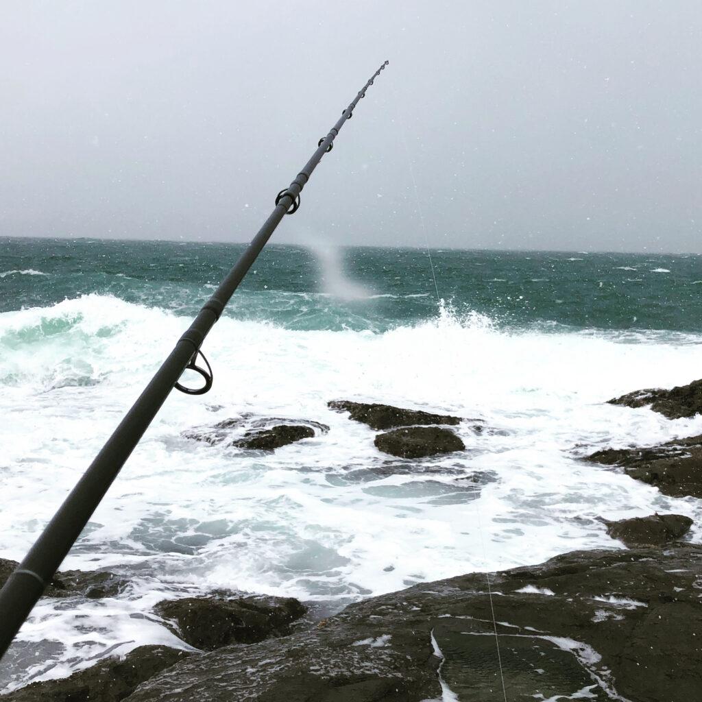 2021年初釣りは極寒大雪